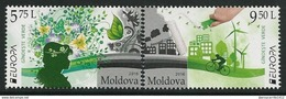 "MOLDOVA/ MOLDAWIEN/ MOLDAVIA -  EUROPA 2016 -THEME "" ECOLOGIE- EL PENSAMIENTO VERDE- THINK GREEN"".- SERIE 2 V. - Europa-CEPT"