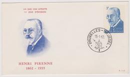 Enveloppe Cover Brief FDC 110 1240 Henri Pirenne