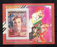 MADAGASCAR - 1993 - Feuillet 1246 - Elvis PRESLEY - 15e Anniversaire De Sa Mort (surcharge Argent En Anglais) - Madagaskar (1960-...)