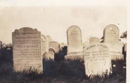 Graves Headstones Cemetery Hendricks Strunk Girunel Family Names, C1900s/10s Vintage Real Photo Postcard - Genealogy