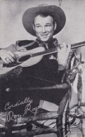 Roy Rogers Autograph On C1940s Vintage Arcade Card, Western Theme, Musician  Entertainer - Autographes