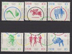 DDR / Olympische Sommerspiele, Tokio (II) / MiNr. 1039-1044