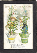 """2 Cute Young Girls""""Loving Easter Wishes""""1915 - Ellen Clapsaddle Signed Antique Postcard - Clapsaddle"""