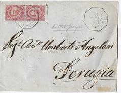 ANNULLO OTTAGONALE CASTELGIORGIO (PG) 06.01.1890 COPPIA UMBERTO I - 1878-00 Umberto I
