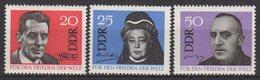 DDR / Für Den Weltfrieden / MiNr. 1049-1051