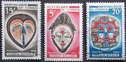 CONGO Y&T 199 - 201 - 202 . OBLITERES MASQUE BALUMBU . BAKWELE. BATEKE - Congo - Brazzaville
