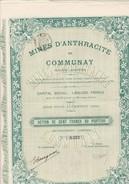 ACTION DE  100 FRS -  MINES D'ANTHRACITE DE COMMUNAY (ISERE)  ANNEE 1911 - Mines