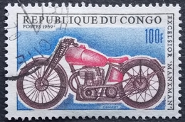 CONGO Y&T 233 (o) EXCELSIOR MANXMAN . MOTO . 1969 . 100F - Congo - Brazzaville