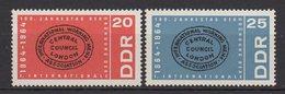DDR / 100. Jahrestag Der Gründung Der Ersten Internationalen Arbeiterasoziation (Internationale)  / MiNr. 1054, 1055