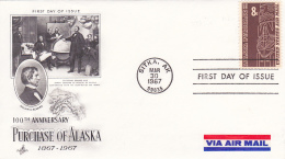 FDC  100 TH Anniversary Of Alaska 1867-1967 - Sitka.AK 30 Mar 1967 - Ersttagsbelege (FDC)