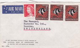 Australie : Affranchissement Sur Lettre - 1952-65 Elizabeth II : Ed. Pré-décimales