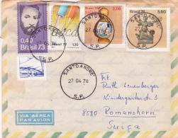 Brésil : Affranchissement Sur Lettre Oblitérée Le 10 Fèvrier 1979 - Brésil