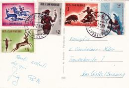 Affranchissement Sur Carte  Postale De St.Marin - 7.7.1961 - Saint-Marin