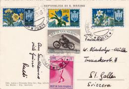 Affranchissement Sur Carte  Postale De St.Marin - 7.7.1955 - San Marino