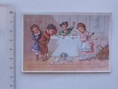 CHROMO VAISSELLE Jouet: Spécialité De Ménages D'enfants PEROT - Table Dessert Verre Carafe - Bd Poissonnière PARIS - Trade Cards