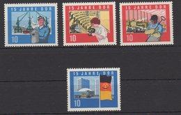 DDR / 15 Jahre DDR  / MiNr. 1059, 1061-1063