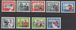 DDR / 15 Jahre DDR  / MiNr. 1064-1066, 1068-1073