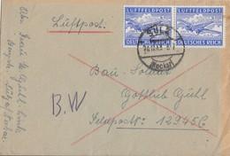 DR Feldpostbrief Mef Minr.2x 1 Sulz (Neckar) 28.12.43 - Briefe U. Dokumente