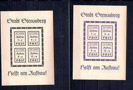 9065 Deutschland, Germany, Lokalausgabe Stadt Strausberg, Block 1 + 2 II, Mnh - Zone Soviétique