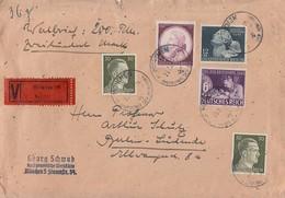 DR Wertbrief Mif Minr.2x 794,810,811,812 München Gel. Nach Berlin - Briefe U. Dokumente