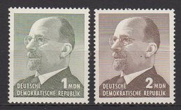 DDR / Freimarken: Staatsratsvorsitzender Walter Ulbricht, Großformat / MiNr. 1087, 1088