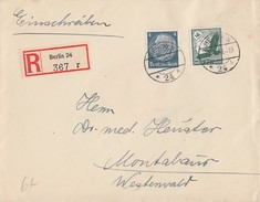 DR R-Brief Mif Minr.514,535 Berlin 18.8.37 Gel. Nach Montabaur - Deutschland