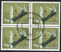 LA SERIE 2xBLOCS DE 4 OBLITERES 1er/J. 2006 C/DES TIMBRES SUISSES Nr:1209/1210. Y&TELLIER Nr:1906/07. MICHEL Nr:1980/81.