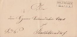 Braunschweig Brief R2 Holzminden 26.2. Gel. Nach Stadtoldendorf - Braunschweig