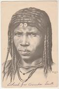 Angola * Mulher Cuangar * Desenho De Carlos Rocha Ferreira * Small Folds On Top Corners - Angola
