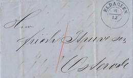 Hannover Brief Blauer K2 Eldagsen 16.12. Gel. Nach Osterode