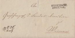 Thurn & Taxis Brief L2 Eisenach 16.12.1844 Gel. Nach Weimar - Thurn Und Taxis