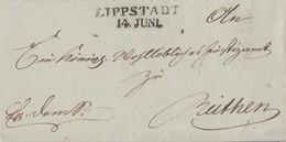 Preussen Brief L2 Lippstadt 14.6. Gel. Nach Rüthen - Preussen