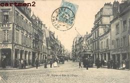REIMS RUE DE L'ETAPE COMMERCES TRAMWAY CHEMIN DE FER TRAIN 51 - Reims