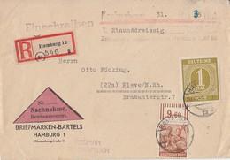 Gemeina. R-NN-Brief Mif Minr.937,951 OR Walze Hamburg 20.12.47 Gel. Nach Kleve - Gemeinschaftsausgaben