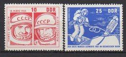 """DDR / Start Des Sowjetischen Raumschiffes """"Woschod 2"""" / MiNr. 1098, 1099"""