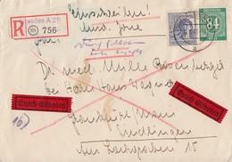 Gemeina. R-Eilbote-Brief Mif Minr.936,957 Dresden 18.10.47 - Gemeinschaftsausgaben