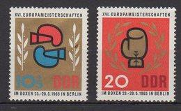 DDR / Europameisterschaften Im Boxen, Berlin / MiNr. 1100, 1101