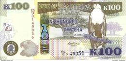 ZAMBIE 100 KWACHA 2014 P-54c NEUF [ZM157c] - Zambia