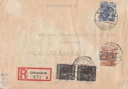 Bizone R-Brief Mif Minr.2x 36I, 44I, 50II Lüdenscheid - Bizone