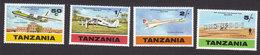 Tanzania, Scott #117-120, Mint Hinged, Planes, Issued 1978 - Tanzania (1964-...)