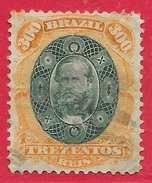 Brésil N°47 300r Orange & Vert 1878 O - Brazil
