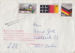 Bund Brief Mif Minr.1264,1265,1266 Bad Wildungen 18.11.85 Gel. In DDR Nebenstempel Postkrieg Ansehen !!!!!!!!!!! - BRD