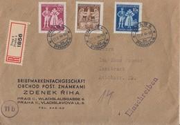 Böhmen Und Mähren R-BriefMif Minr.133-135 Prag 23.5.44 Gel. Nach Innsbruck Geprüft Mahr BPP - Böhmen Und Mähren