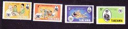 Tanzania, Scott #123-126, Mint Hinged, Int'l Year Of The Child, Issued 1979 - Tanzania (1964-...)