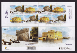 CYPRUS 2017 BOOKLET EUROPA CASTLES