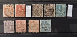 France Mouchons N° 112 - 113 - 114 - 115 - 124 // Cote : 48 Euros