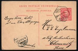 A4523 - Alter Beleg - Ganzsache Lissabon Nach Chemnitz 1908 - Postal Stationery