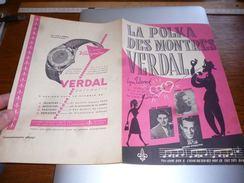 AA2-3 Top Partition La Polka Des Montres Verdal Pub Montres Au Verso - Scores & Partitions
