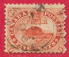 Canada N°14 5c Rouge 1859-64 (MONTREAL 8 NO 64) O - 1851-1902 Règne De Victoria