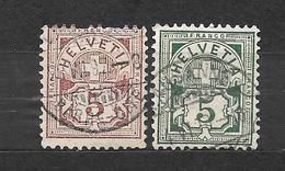 SVIZZERA  Suisse Helvetia     N. 66-67/US  -1882 Lot Lotto